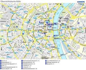 Touristischer stadtplan von Köln