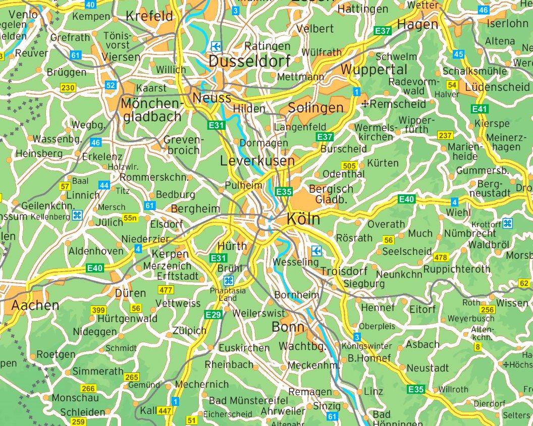 Köln Karte Deutschland.Umgebungskarte Köln
