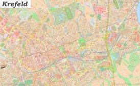 Große detaillierte stadtplan von Krefeld