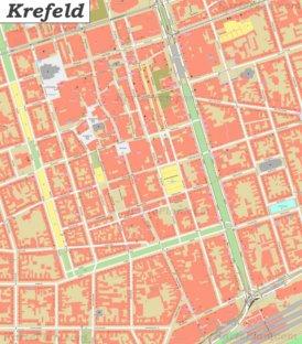 Karte von Krefeld-Altstadt