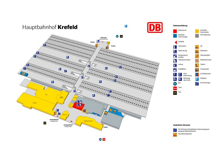 Krefeld Hauptbahnhof plan