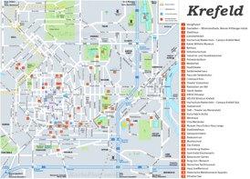 Touristischer stadtplan von Krefeld