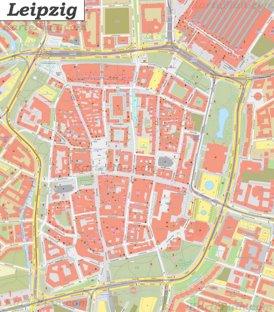 Karte von Leipzigs Zentrum