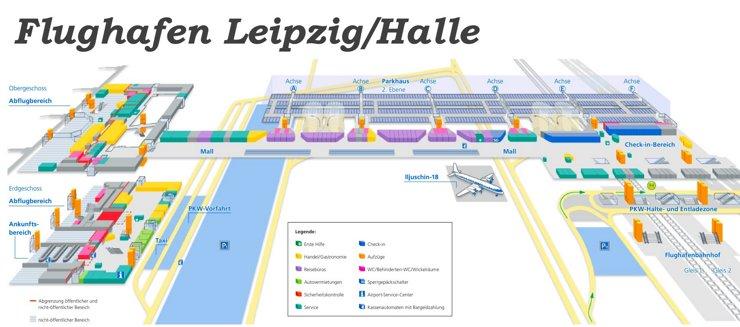 Flughafen Leipzig/Halle Plan