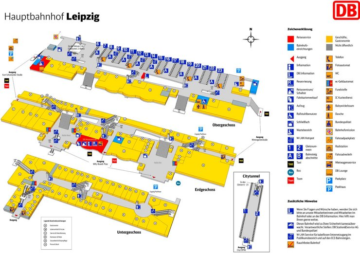 Leipzig Hauptbahnhof plan