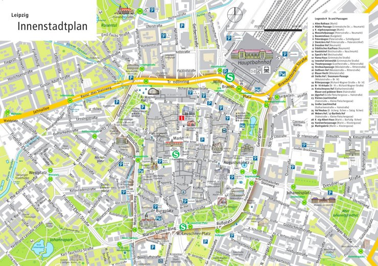 Leipzig Innenstadtplan