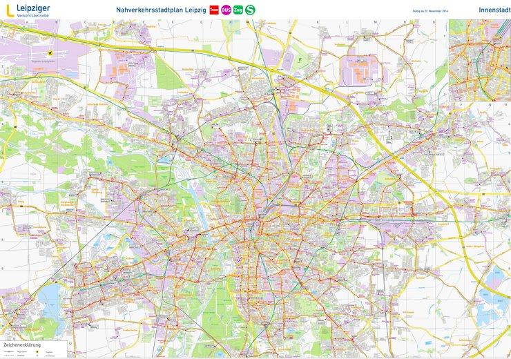 Linienplan Leipzig