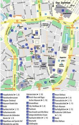 Stadtplan Leipzig mit sehenswürdigkeiten