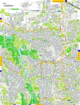 Straßenkarte von Leipzig