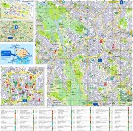 Touristischer stadtplan von Leipzig