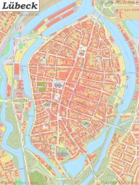 Karte von Lübecker Altstadt