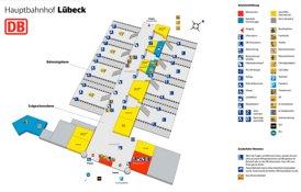 Lübeck Hauptbahnhof plan