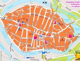 Lübeck Innenstadtplan