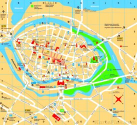 Touristischer stadtplan von Lübeck