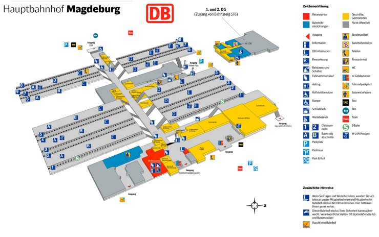 Magdeburg Hauptbahnhof plan