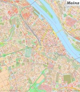 Große detaillierte stadtplan von Mainz