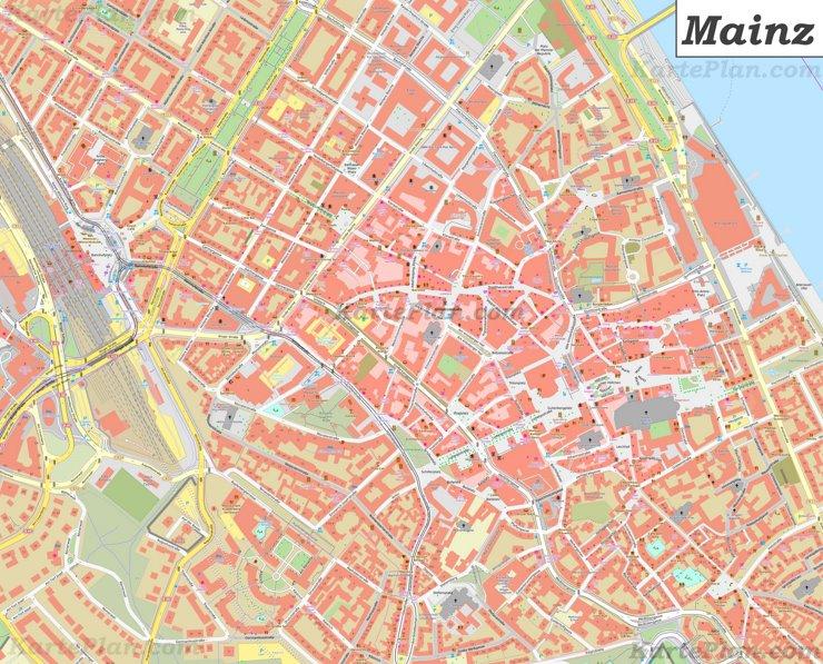 Karte von Mainz-Altstadt