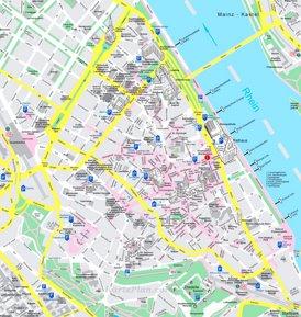 Mainz Innenstadtplan