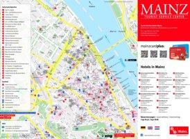 Stadtplan Mainz mit sehenswürdigkeiten