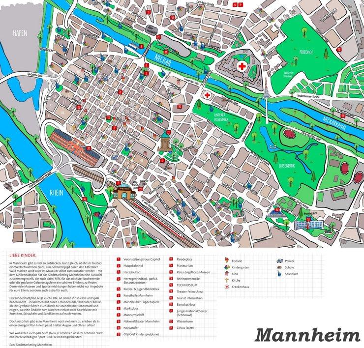 Kinderstadtplan Mannheim