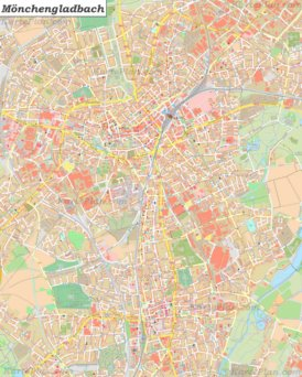 Große detaillierte stadtplan von Mönchengladbach