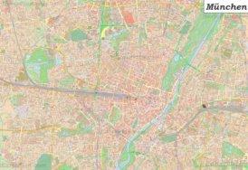 Große detaillierte stadtplan von München