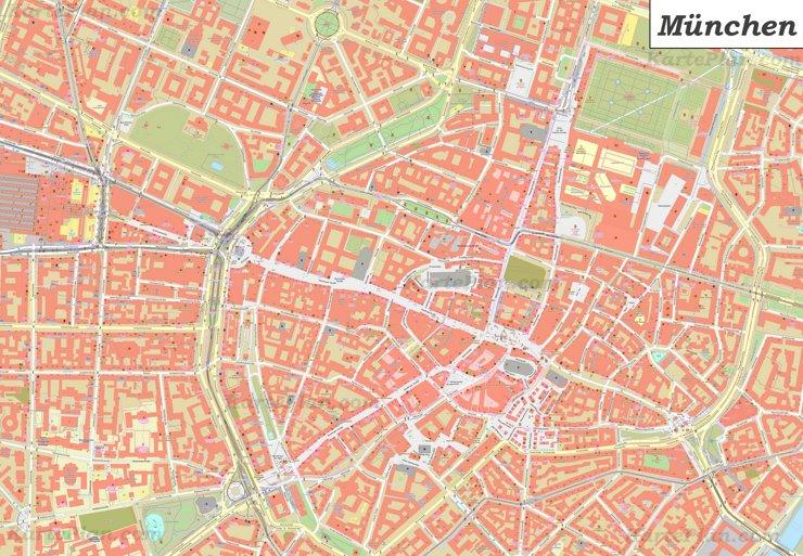 Karte von München Zentrum