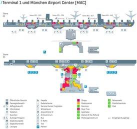 Flughafen München Plan - Terminal 1