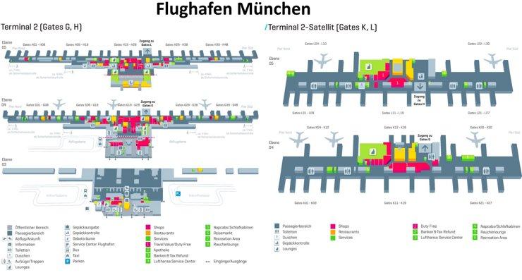 Flughafen München Plan - Terminal 2