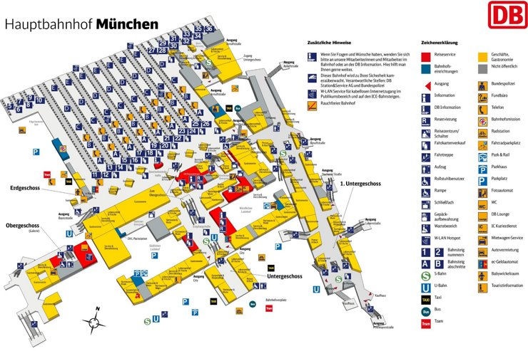 München Hauptbahnhof plan