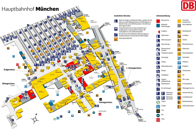 Munchen Hauptbahnhof Plan