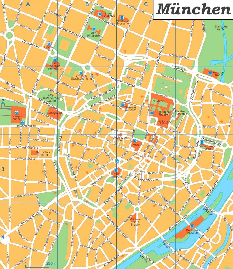 München Innenstadtplan