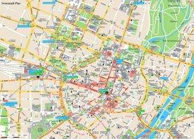 Touristischer Innenstadtplan von München