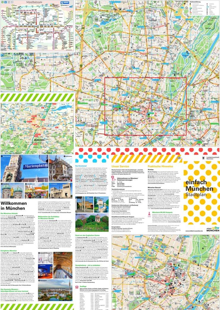 Touristischer stadtplan von München