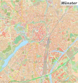 Große detaillierte stadtplan von Münster