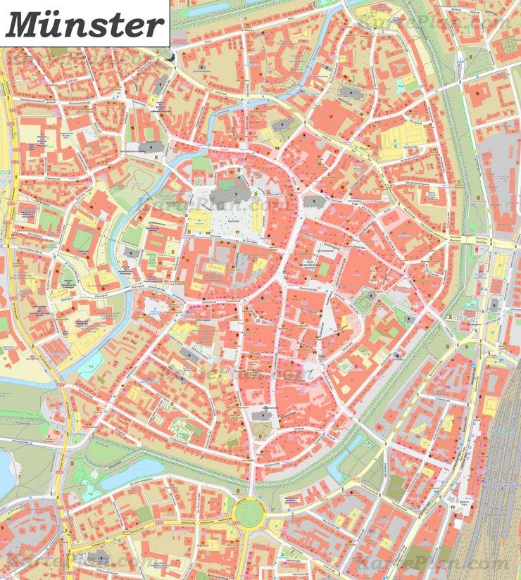 Karte von Münsters Zentrum