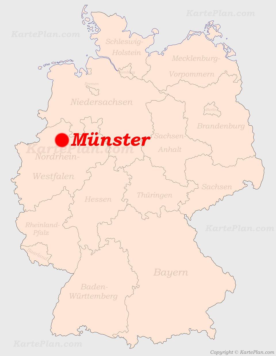 Munster Auf Der Deutschlandkarte