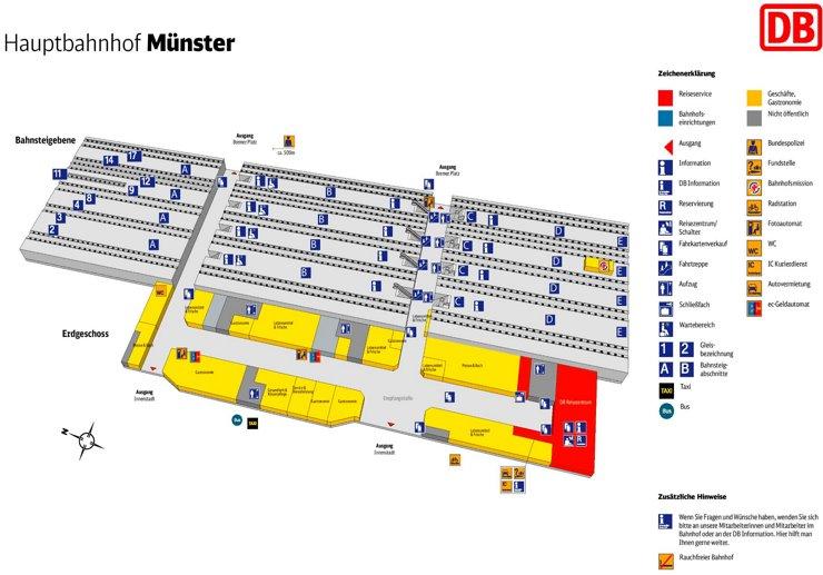 Münster Hauptbahnhof plan