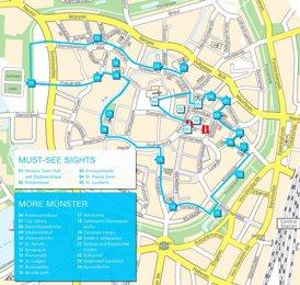 Stadtplan Münster mit sehenswürdigkeiten