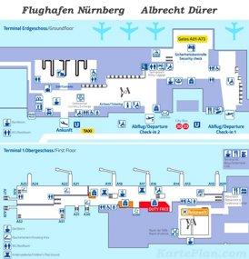 Flughafen Nürnberg Plan