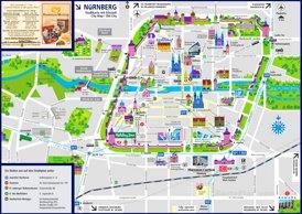 Nürnberg Innenstadtplan
