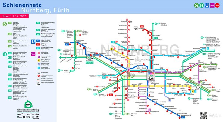 Schienennetzplan Nürnberg