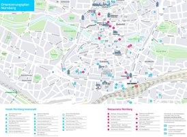 Stadtplan Nürnberg mit hotels und restaurants