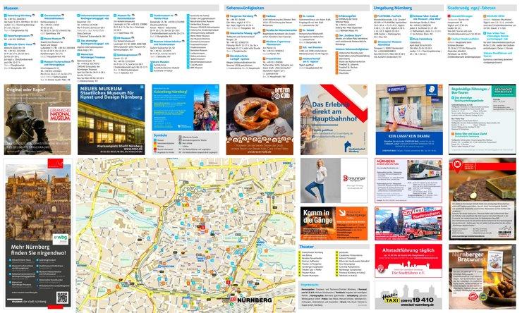 Touristischer stadtplan von Nürnberg