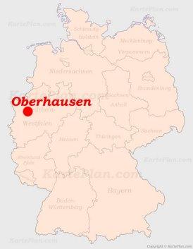 Oberhausen auf der Deutschlandkarte