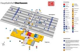 Oberhausen Hauptbahnhof plan