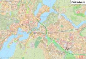 Große detaillierte stadtplan von Potsdam