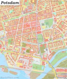 Karte von Potsdamer Stadtzentrum