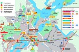 LinienPlan Potsdam mit sehenswürdigkeiten