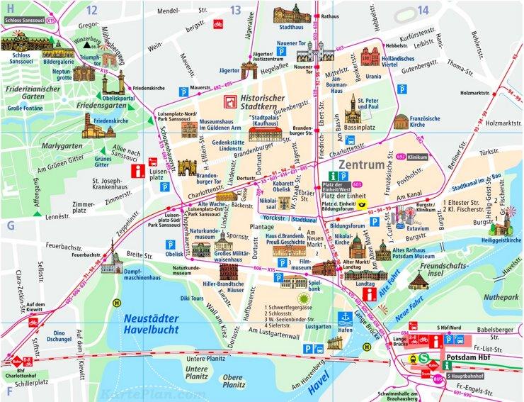 Potsdam Innenstadtplan